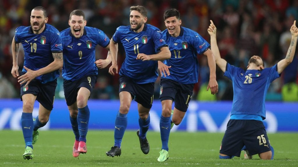 Mancini warns against Nations League expectancy after Italy's Euro 2020 success. AFP