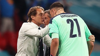Donnarumma unhappy with boo boys as Mancini takes positives from Italy's unbeaten streak ending