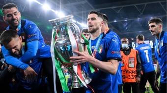 Jorginho dreaming of Ballon d'Or as Mancini backs Italy and Chelsea star for award. AFP