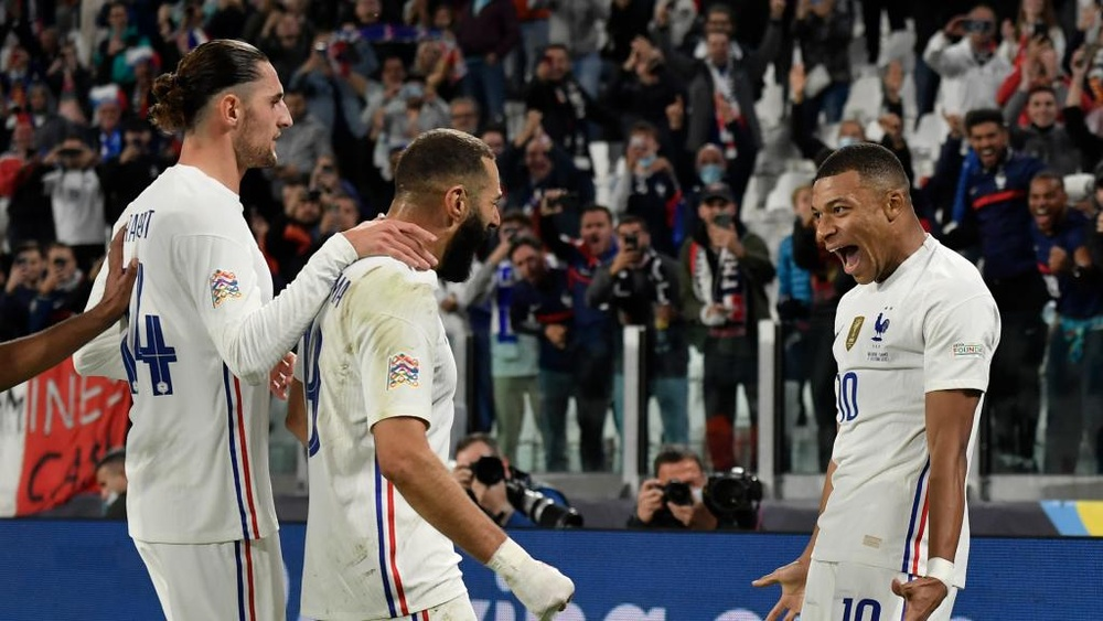 Benzema pleased for Mbappe.