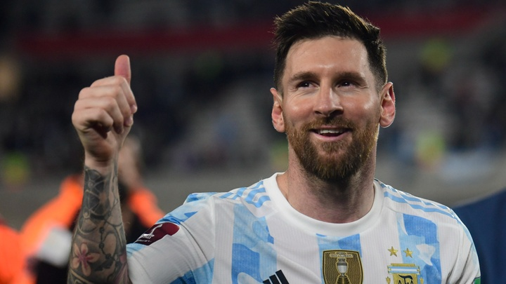 Scaloni: Messi thriving with us now.
