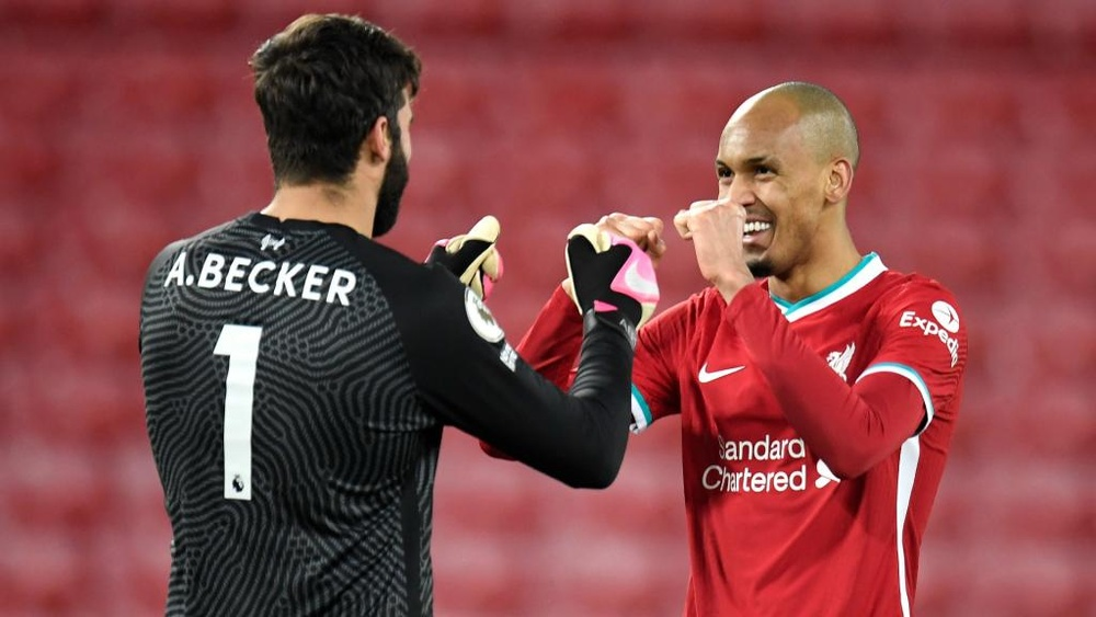 Alisson and Fabinho will miss Liverpool's game with Watford. GOAL