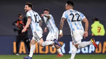 Argentina 3-0 Uruguay: La Albiceleste extend unbeaten run as Messi scores. AFP