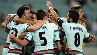 Porutgal got the three points in Azerbaijan. GOAL
