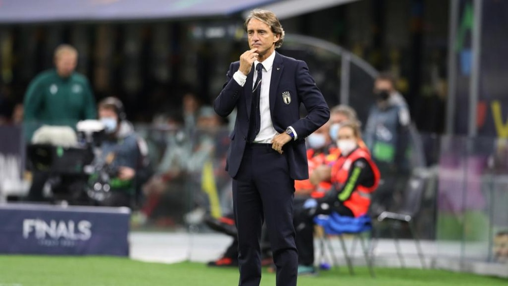 Mancini satisfied with Italy's display despite Spain ending record run. AFP