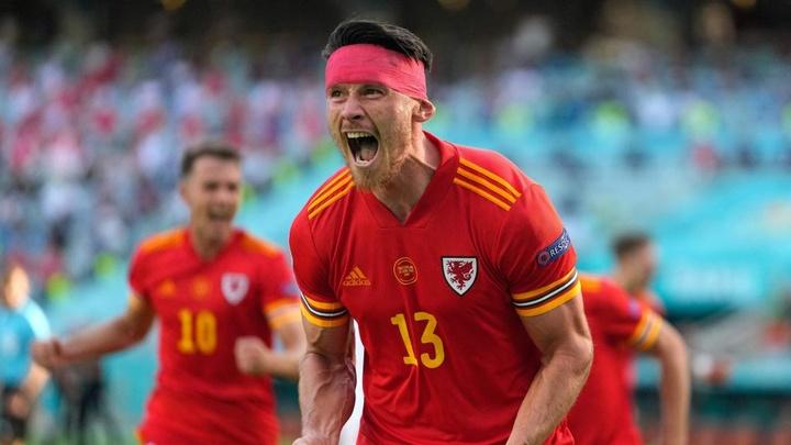 Wales striker Kieffer Moore scored an emotional equaliser. GOAL